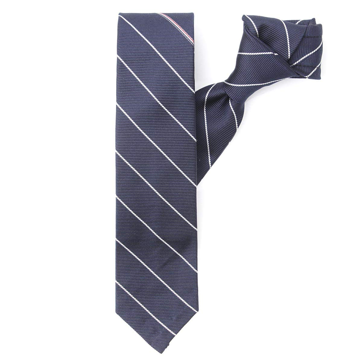 トムブラウンの100%シルクのネクタイ