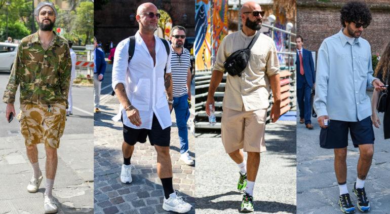 男性の半ズボン(ショートパンツ)