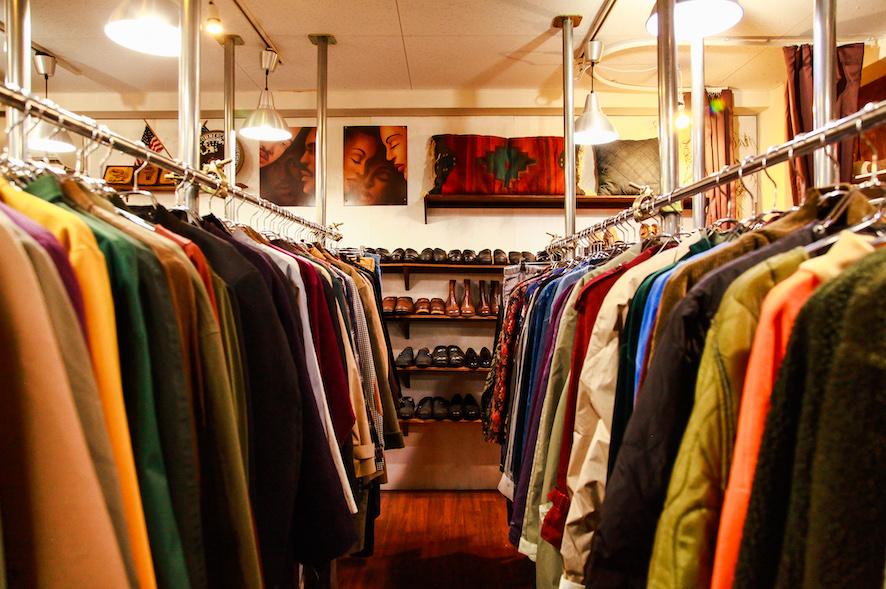 古着屋の店内