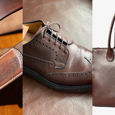 レザーのバッグ、ベルト、靴を茶色で統一すべき理由!