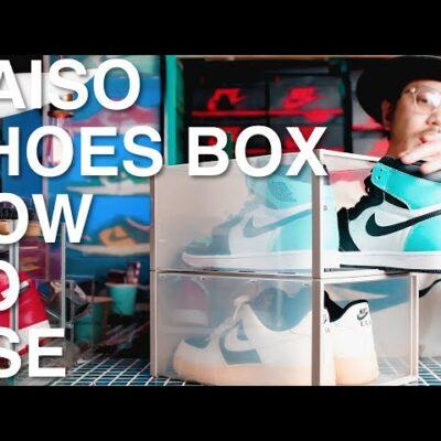 【ダイソーで買えるシューズボックス】良いところ、悪いところ。スニーカー収納の補助に使える格安ボックス、サイズ感や透明度など。 【DAISO 100円ショップ 100均】