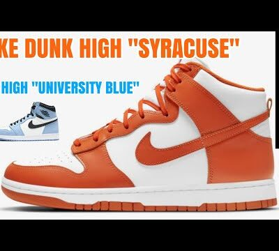 "NIKE DUNK HIGH ""SYRACUSE"" & AJ1 HIGH ""UNIVERSITY BLUE""に戦いを挑んだ結果"