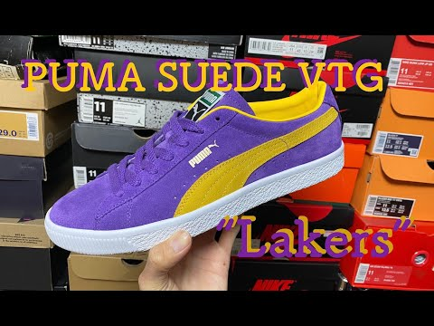 """PUMA SUEDE VTG """"LAKERS""""(プーマ スエード レイカーズ) review & on feet!!"""