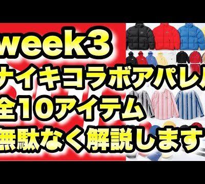 緊急速報|Week3 シュプリーム × ナイキ コラボアパレル全10アイテム無駄無く解説【21ss week3 Supreme × Nike】