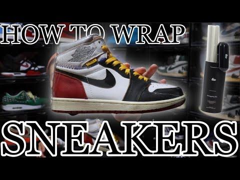 """【簡単】スニーカーラッピングのやり方!""""Wrapping Kit""""を使えば自宅で手軽に行えます【How to wrap sneakers】"""